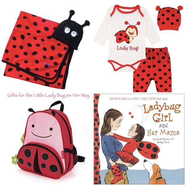 Gifts for the little lady bug on her way ladybug baby shower presents