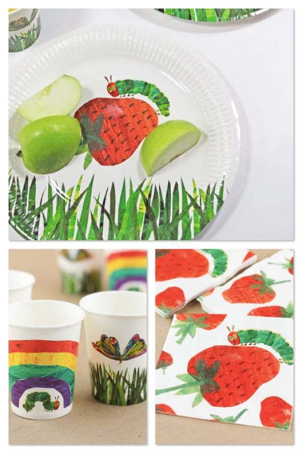 The Very Hungry Caterpillar Party Plates Cups Napkins