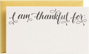 I am thankful for Thanksgiving seating cards