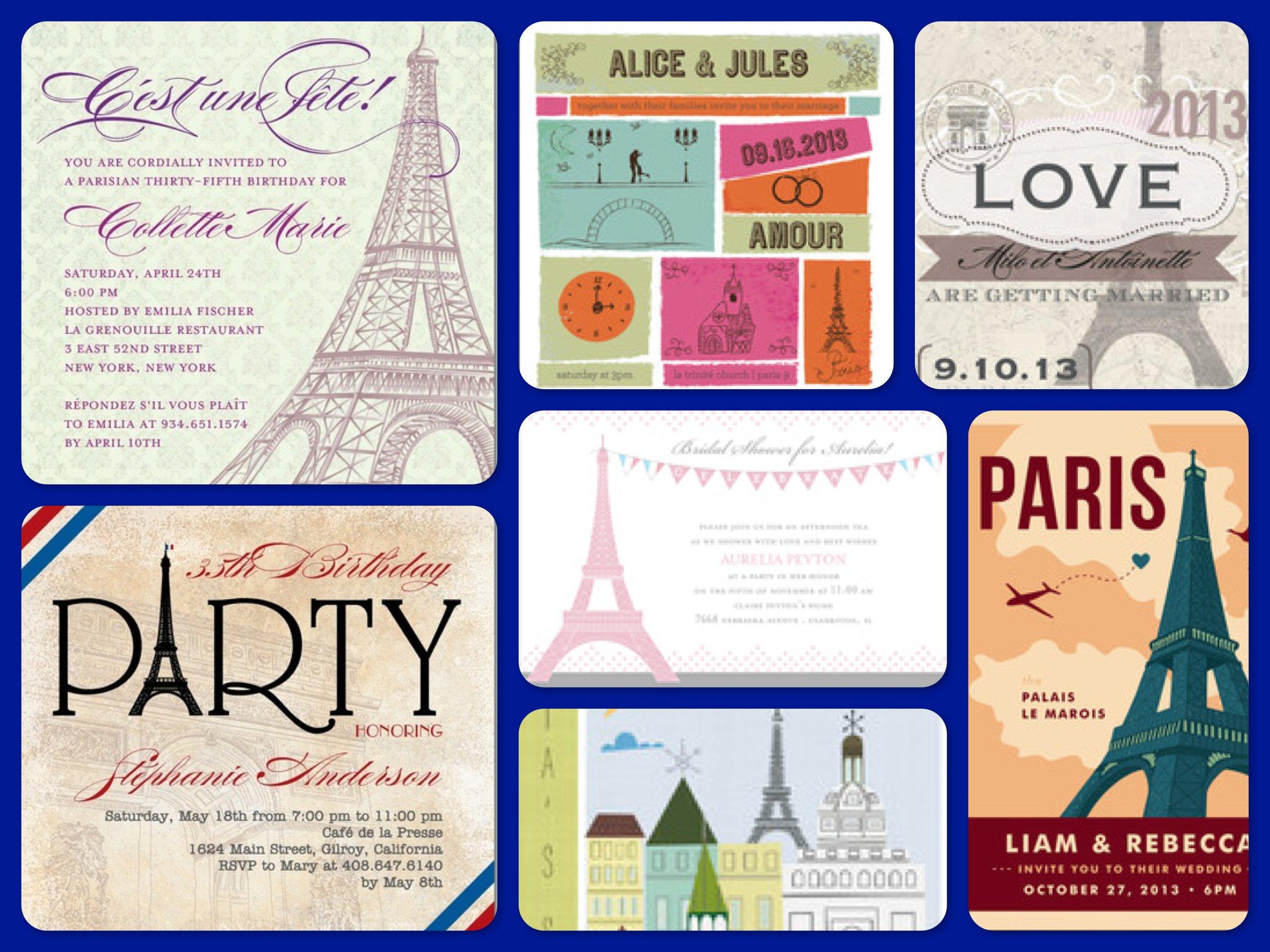 Paris Theme Party Ideas, Planning, Supplies & Invitations
