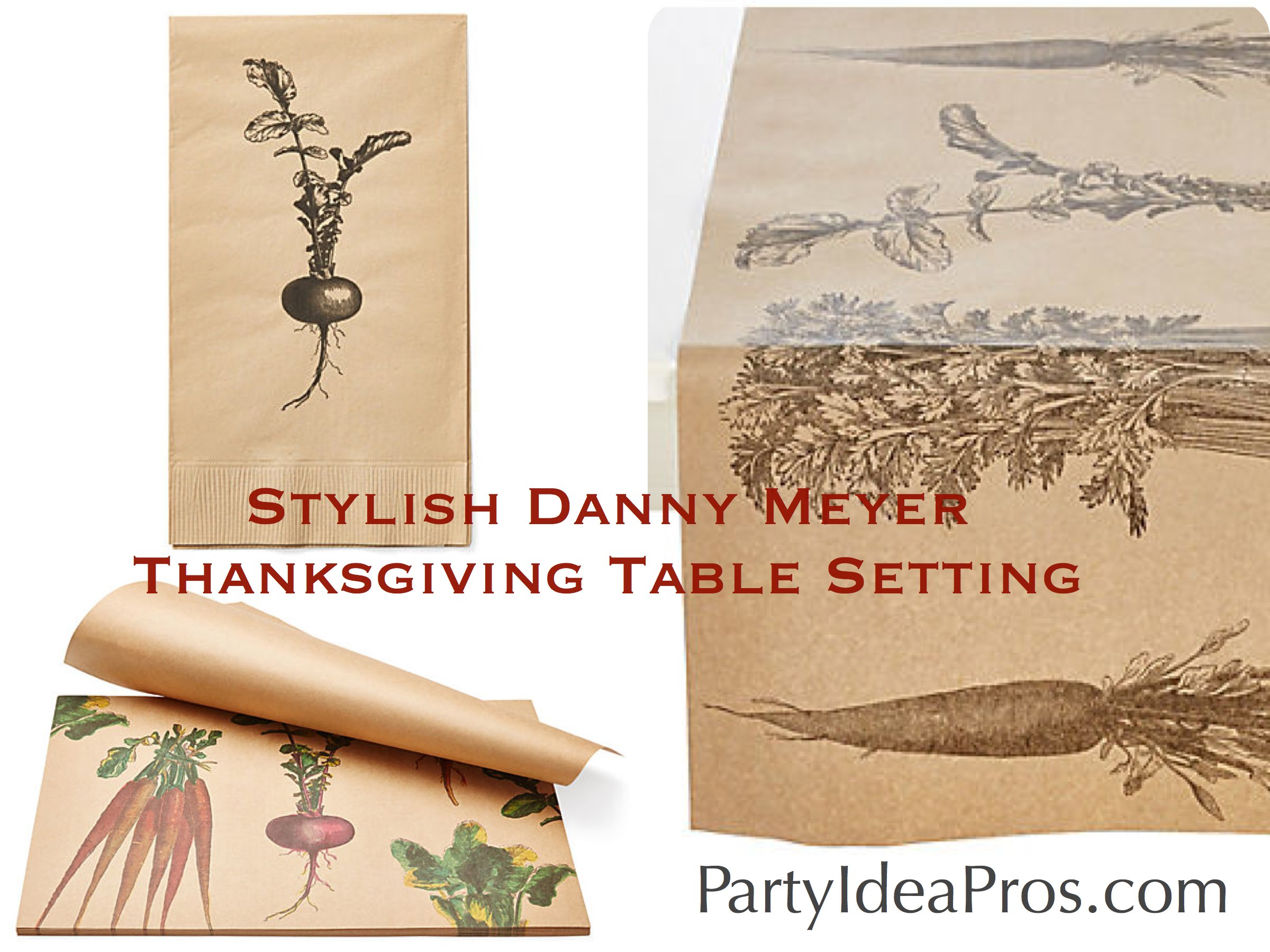 Sylish Danny Meyer Autumn Thanksgiving Table Settings