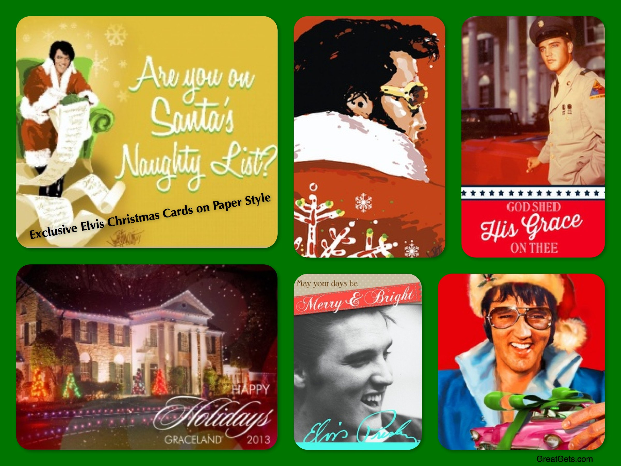 Elvis Christmas Cards, holiday cards, seasons greetings