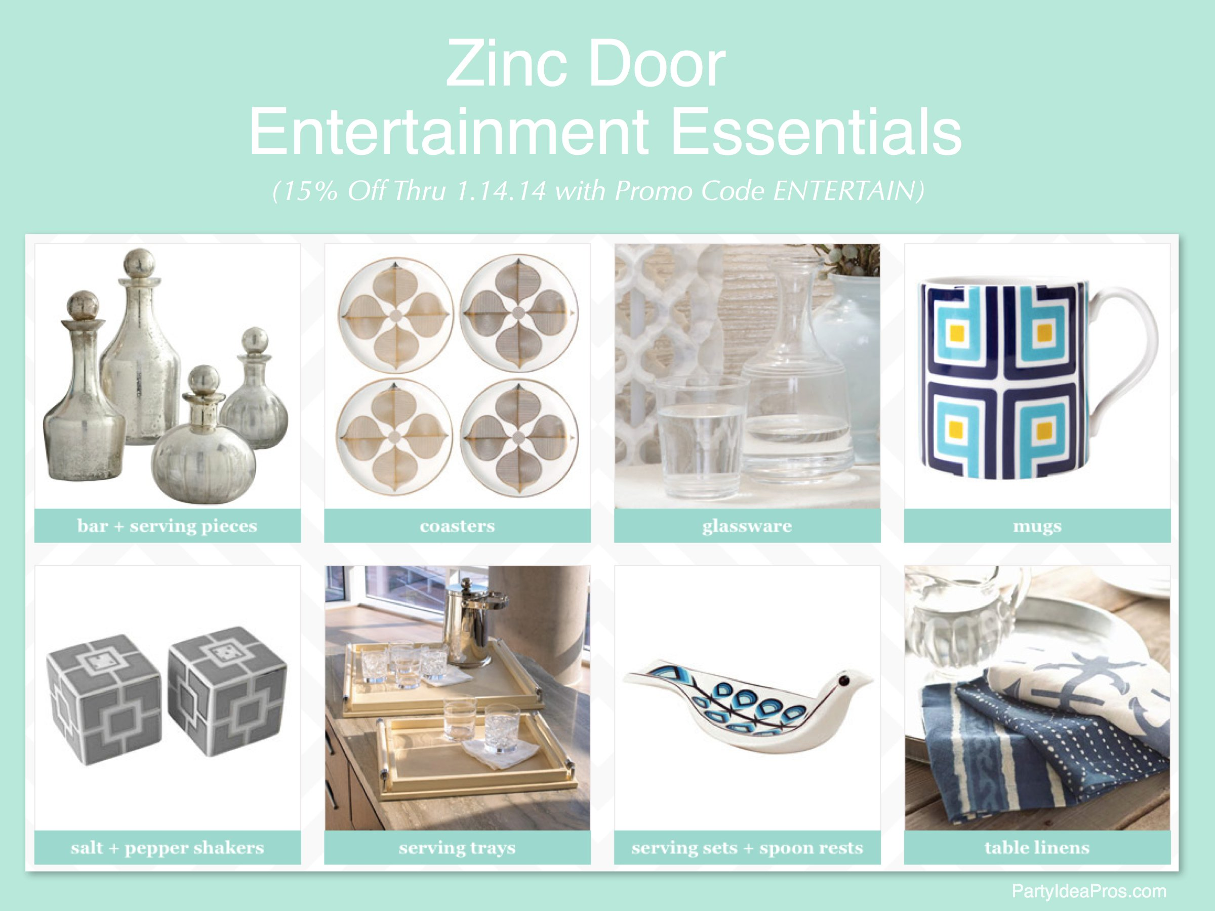 Entertaining Essentials on sale at Zinc Door