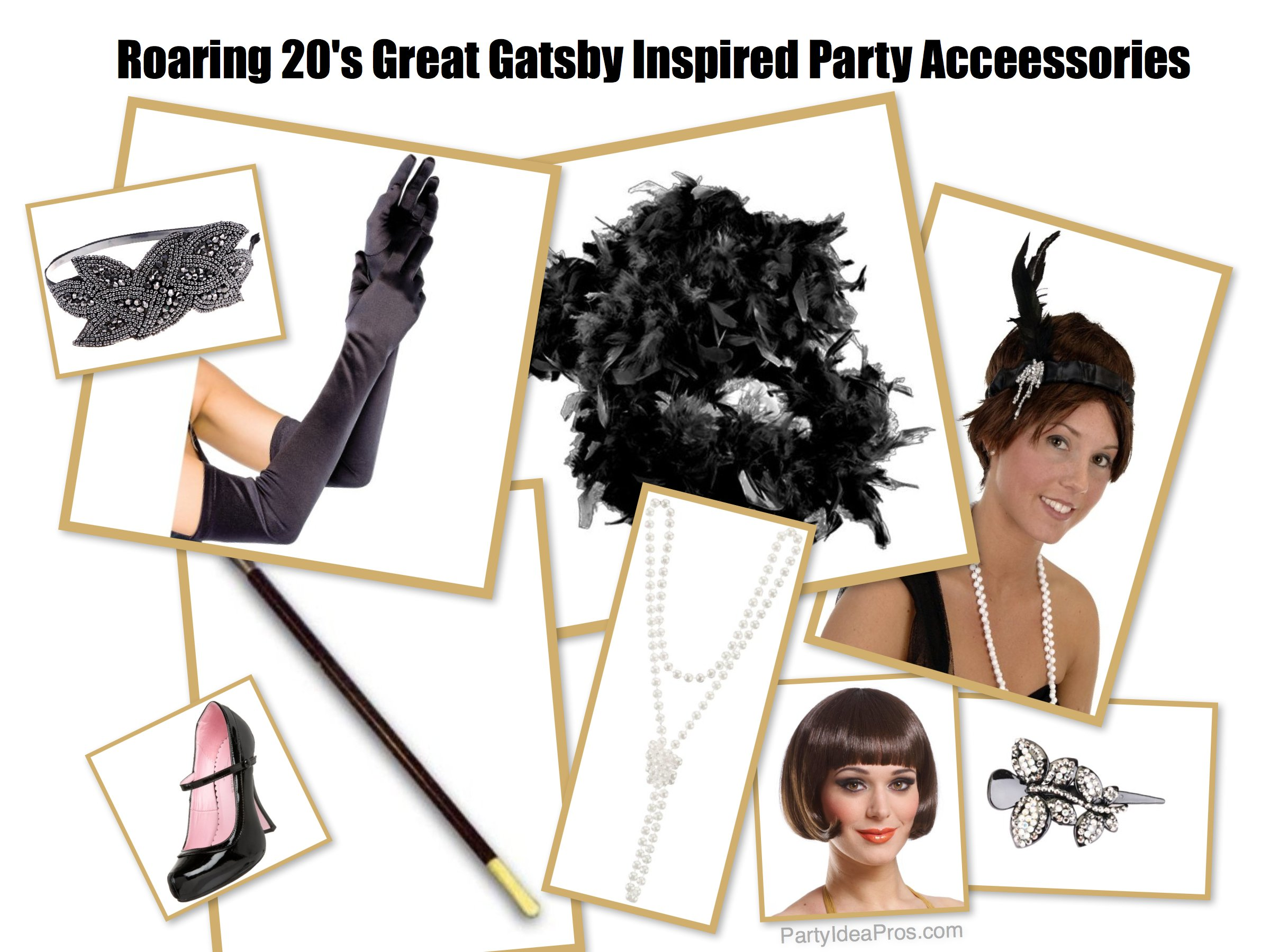 Roaring 20's Great Gatsby Inspired Party Acceessories