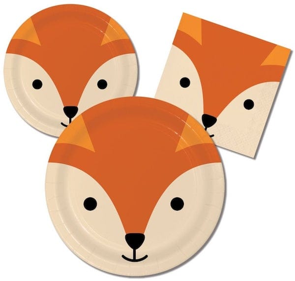 Fox Party Plates and Napkins