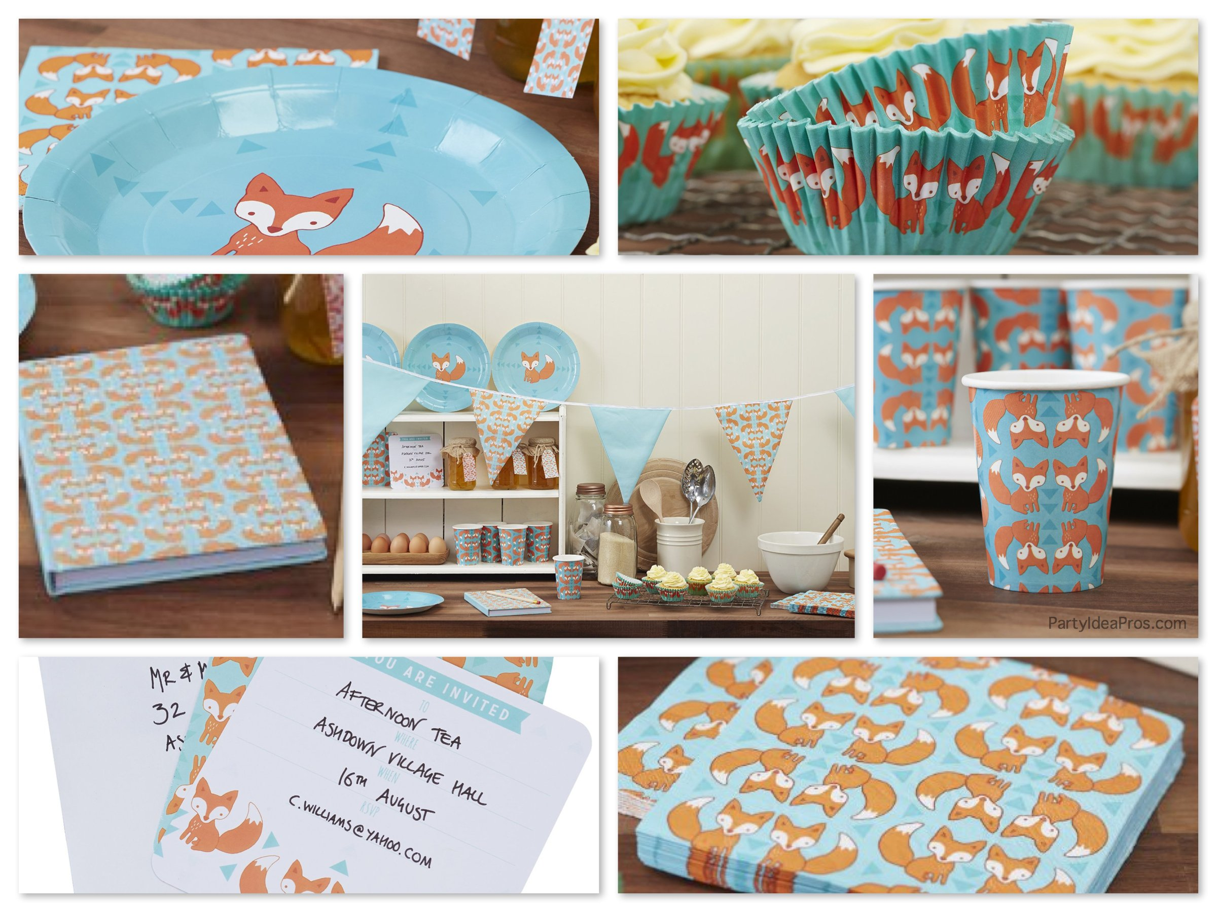 Ginger Ray Fox Theme Party Supplies