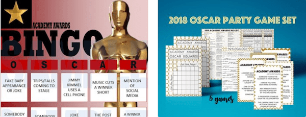 Oscar Party Downloadable Games