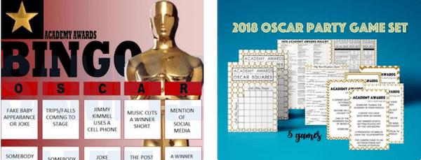 Oscar Party Downloadable Games