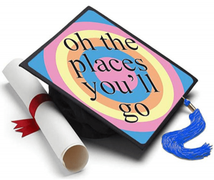 Oh the Places You Will Go Dr Seuss Graduation Cap