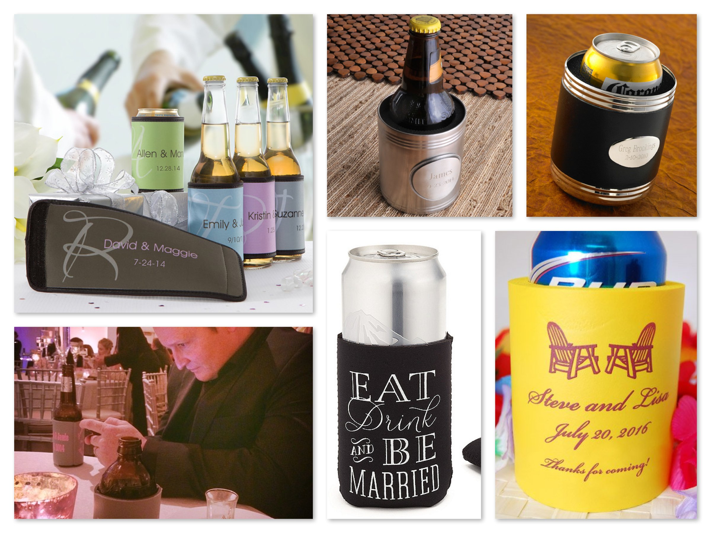Wedding favor Koozies, groomsmen gift koozies, Jamie Lynn Spears Wedding