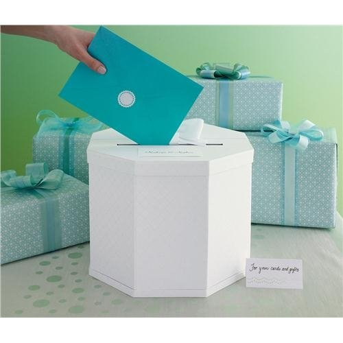 White Eyelet Gift Card Box
