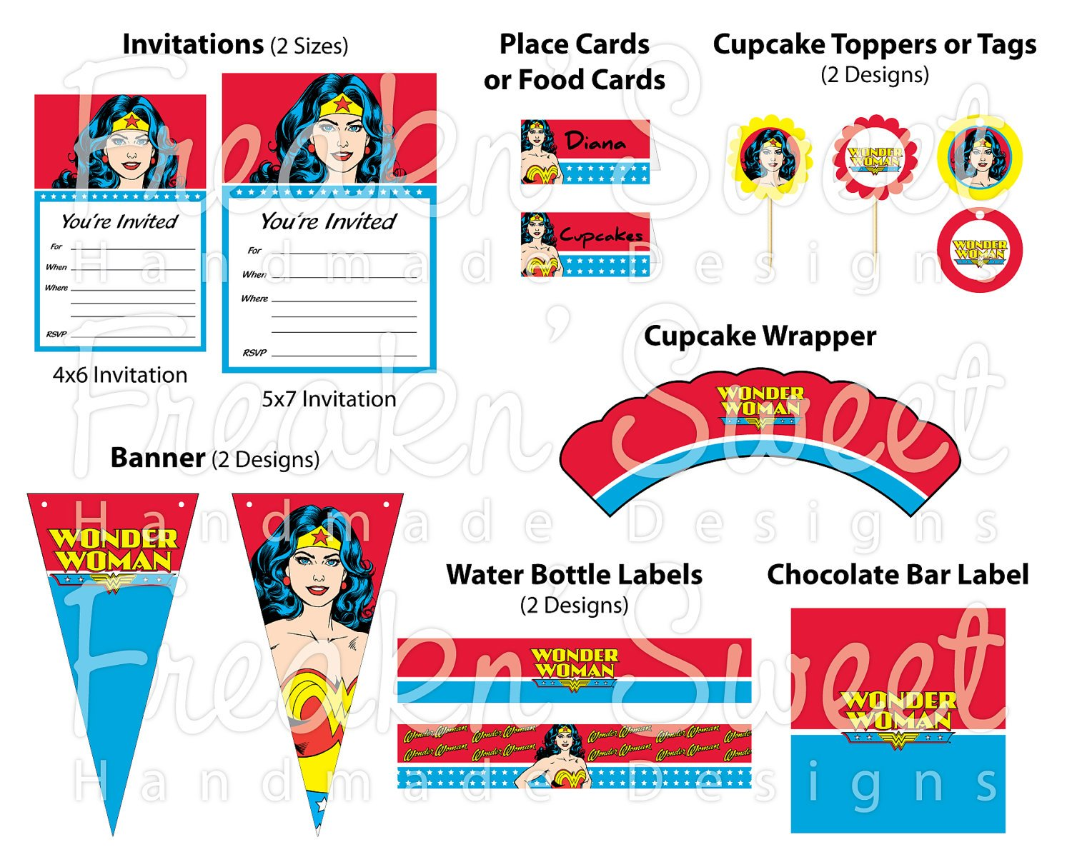 Wonder Woman Party Planning, Ideas, Supplies & Gifts | Superhero Party | PartyIdeaPros.com