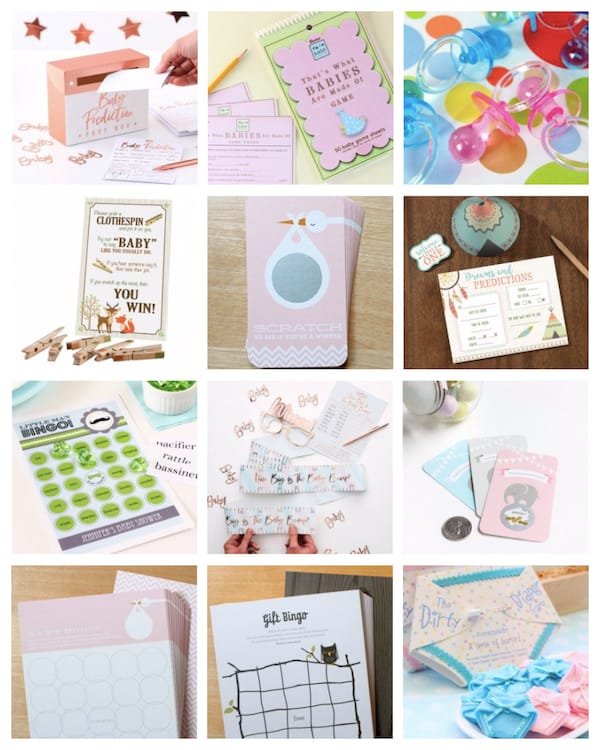 Baby Shower Advice Cards and Games
