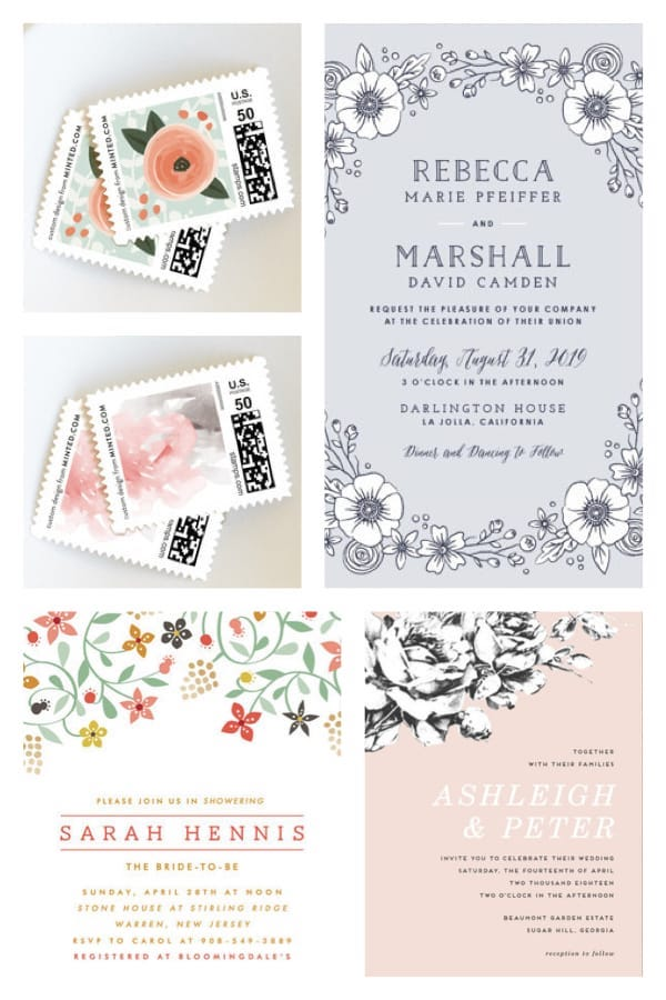 Garden Party Invitations and Stamps