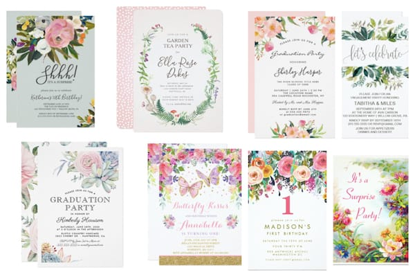 Garden Party Invitations