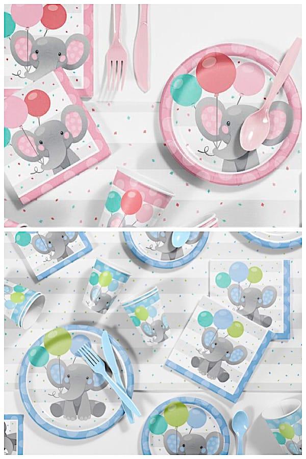 Enchanting Elephant Birthday Party Supplies Kit