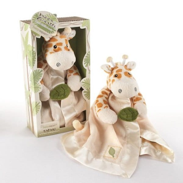 Giraffe Plush Rattle Lovie Baby Shower Gift