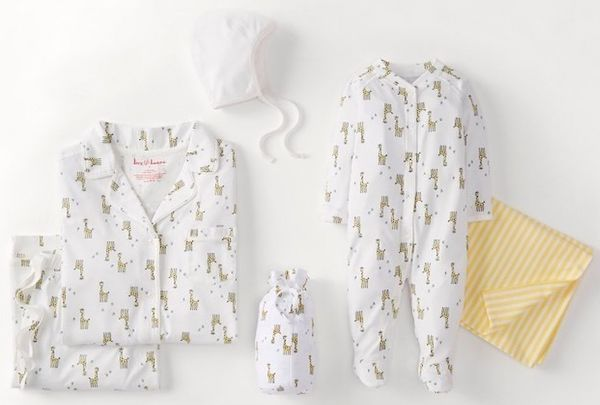 Matching Mother Baby Giraffe PJs