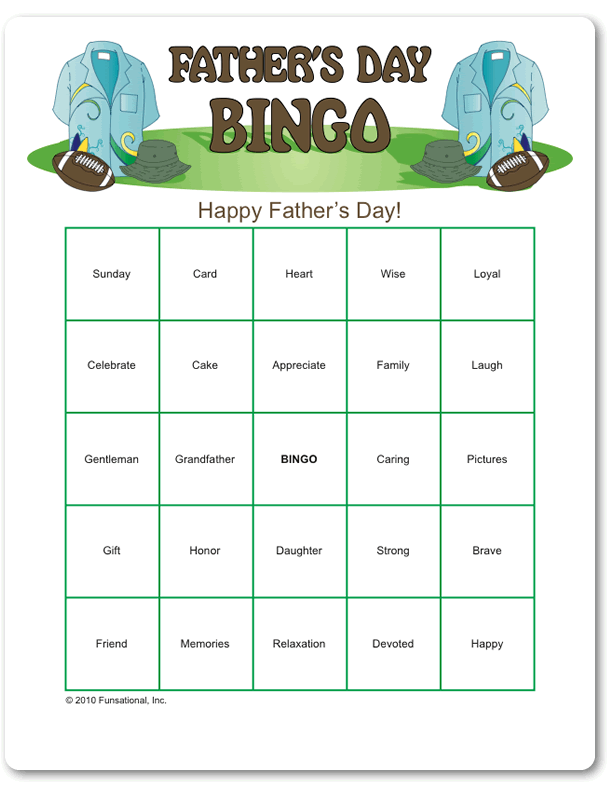 fathers day printable games