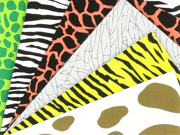 Animal Print Origami Papers