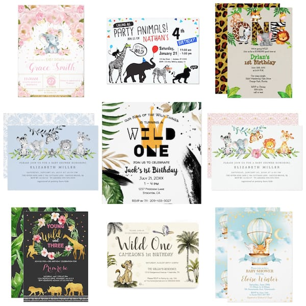 Jungle.Party Invites
