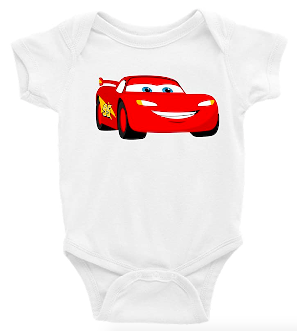 Lightening McQueen Cars Short Sleeve Onesie
