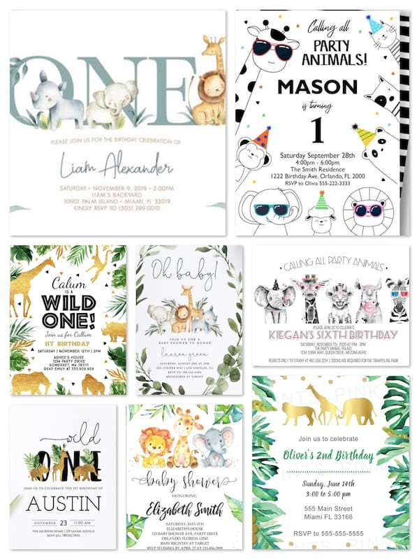 Printable Jungle Safari Party Invitations 11.16.18 PM