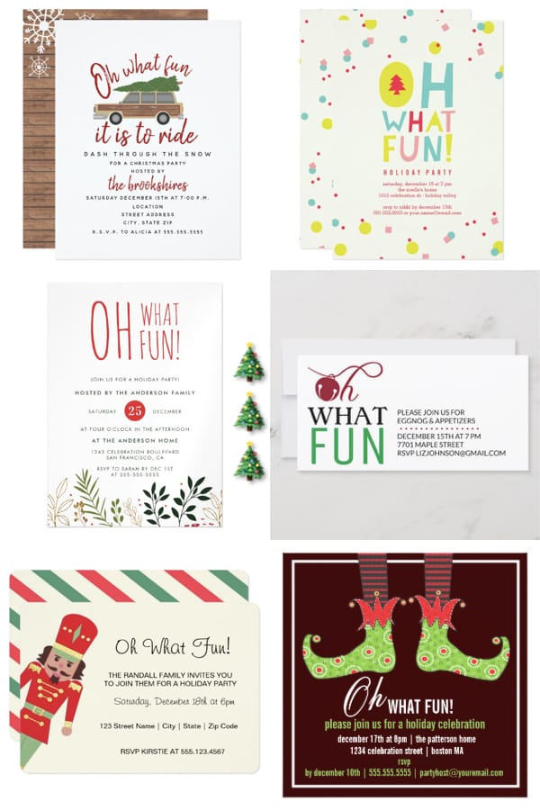 Oh What Fun! Holiday Party Invitations