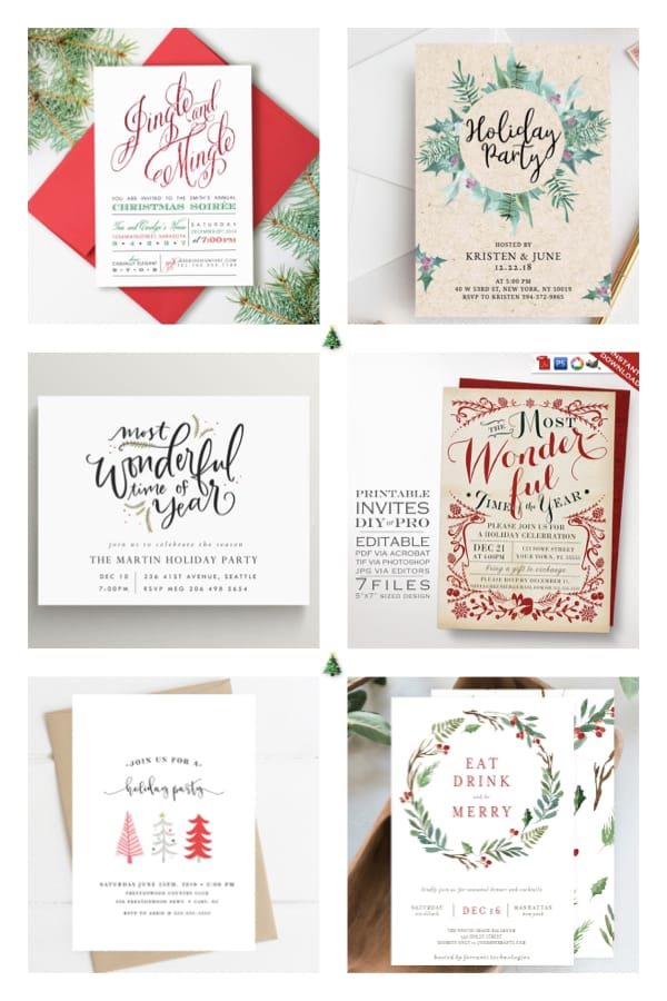 Printable Holliday Party Invitations