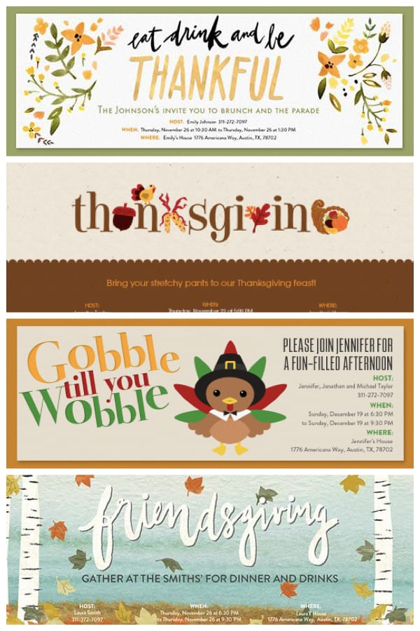 Text or Email your Digital Thanksgiving Invitations