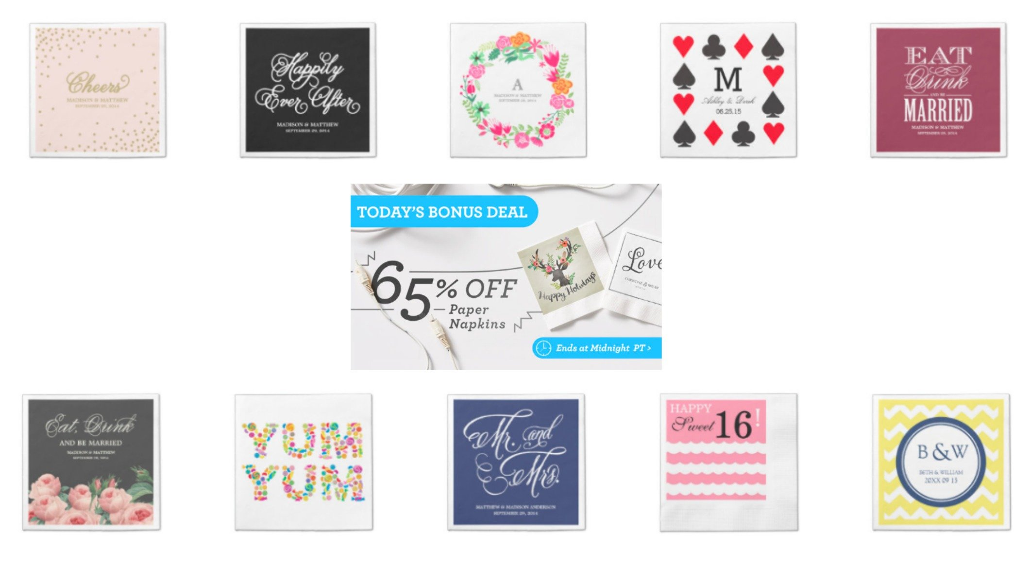 Custom Paper Napkin Sale