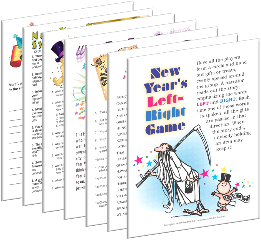 Printable New Year's Eve Games