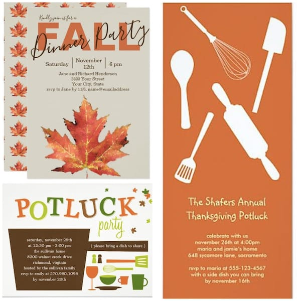 Fall Dinner Party invitations