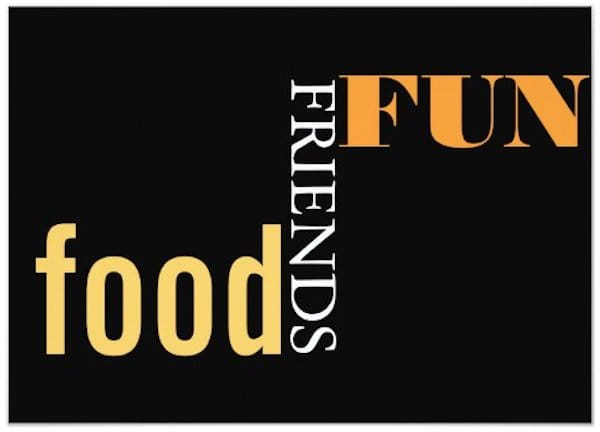 Food Friends Fun Dinner Party Invitation