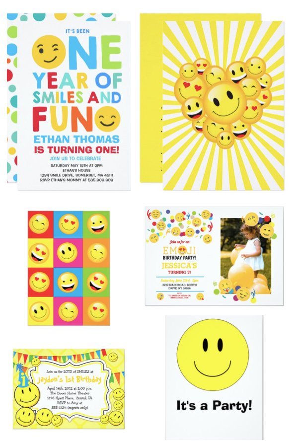Happy Face Party Invitations