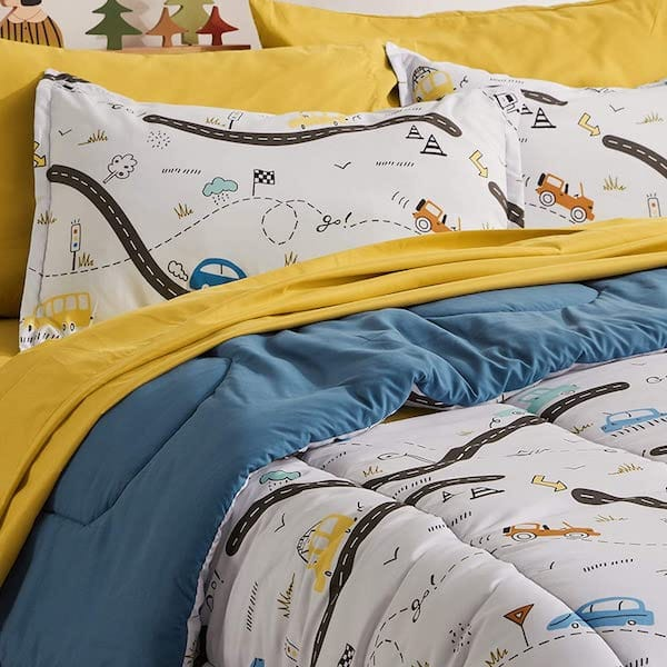 Kids Bed-in-a-Bag Car Bedding