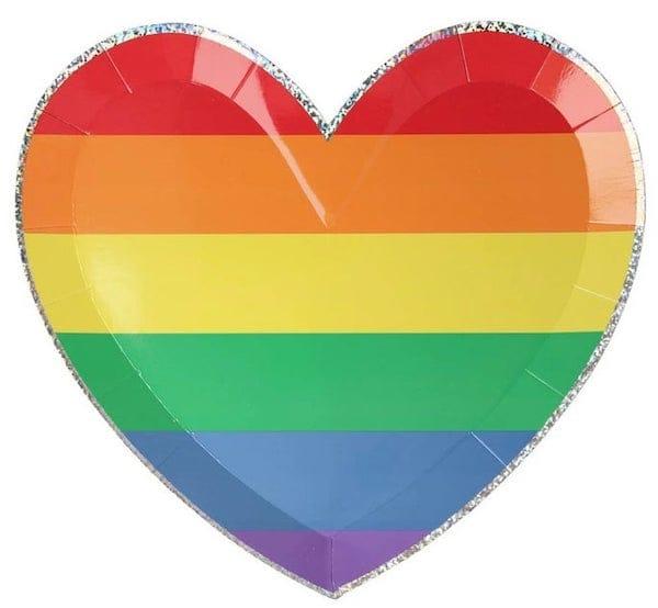 Rainbow Heart Plates