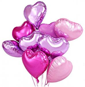 Pink Heart Valentine's Balloons