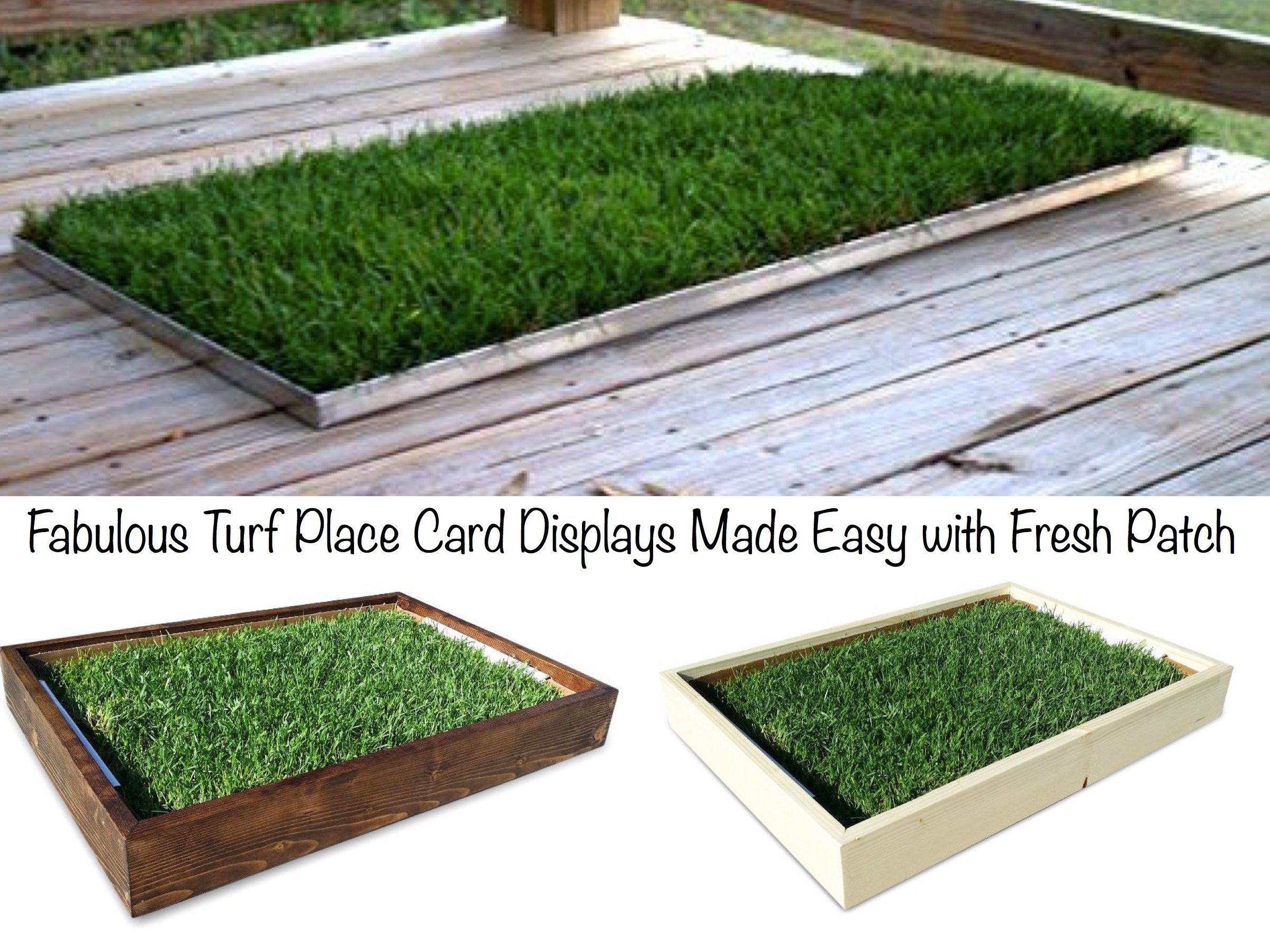 Fabulous Turf Place Card Displays Made Easy with Fresh Patch