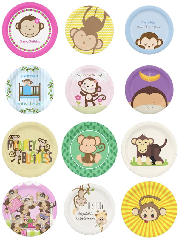Monkey Party Paper Plates
