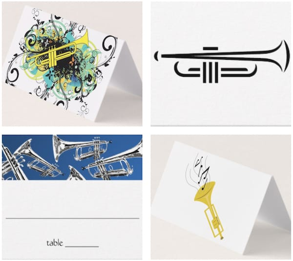Trumpet Place Cards