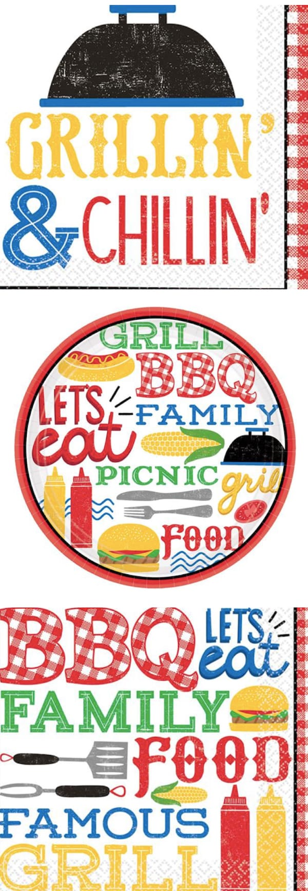 BBQ Paper Goods Plates and Napkins