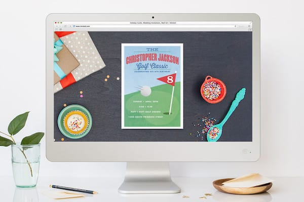 Golf Classic Children's Birthday Party Online Invitation
