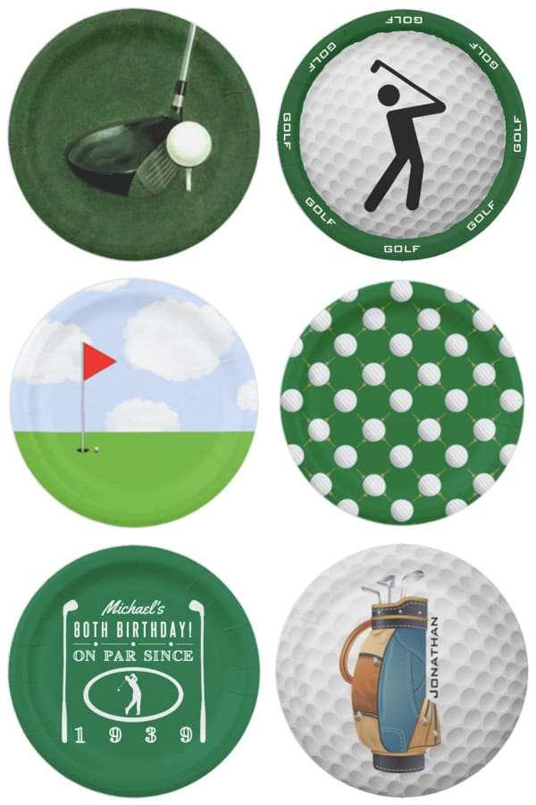 Golf Party Paper Plates