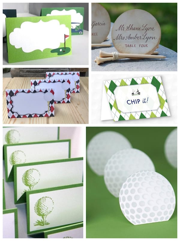 Golf Theme Place Cards