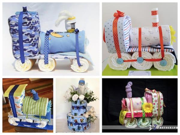 Train Diaper Cakes