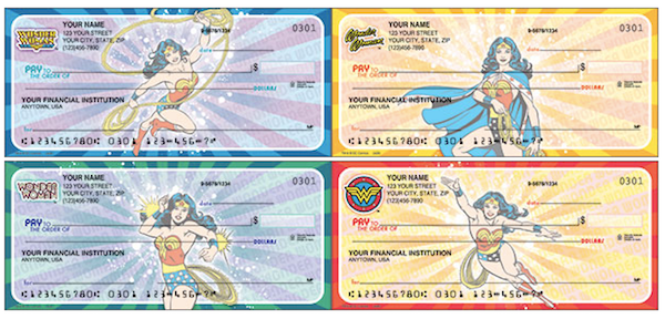 Wonder Woman Comics Personal Checks