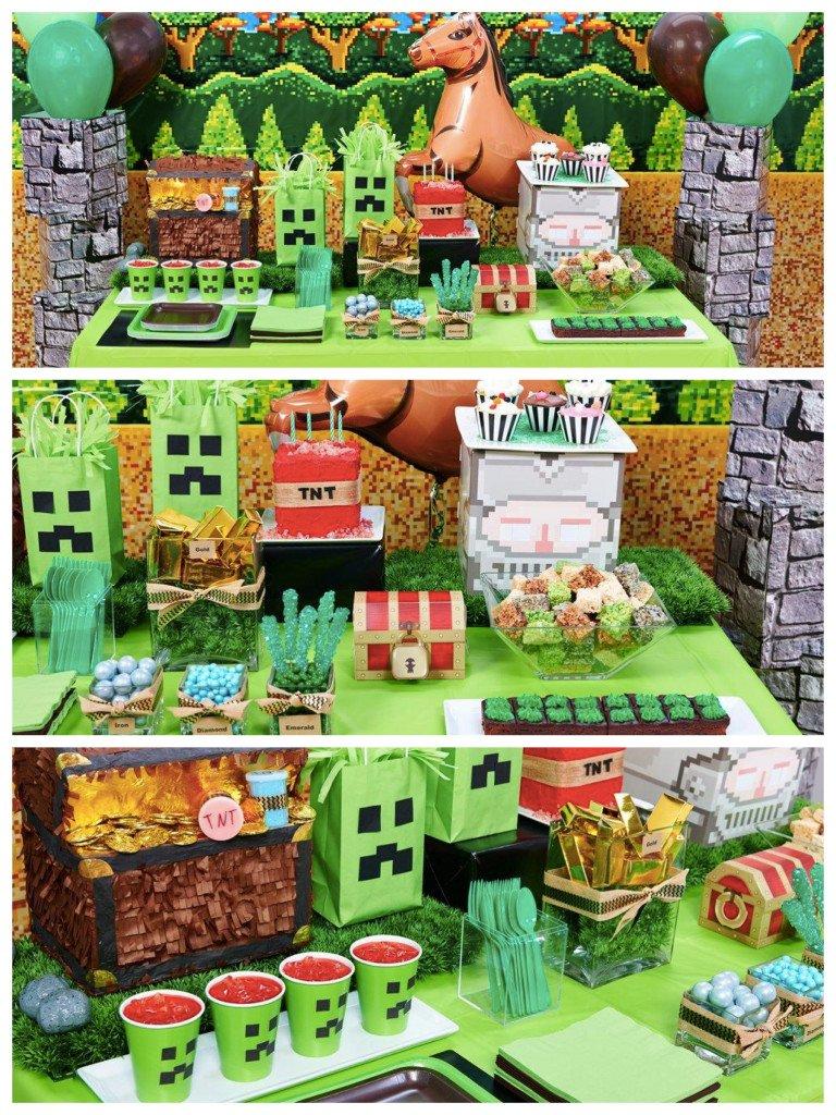 Block Miner & Minecraft Party Ideas & Supplies ...