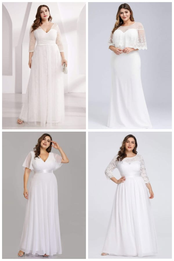 Budget Plus Size Bridal Dresses
