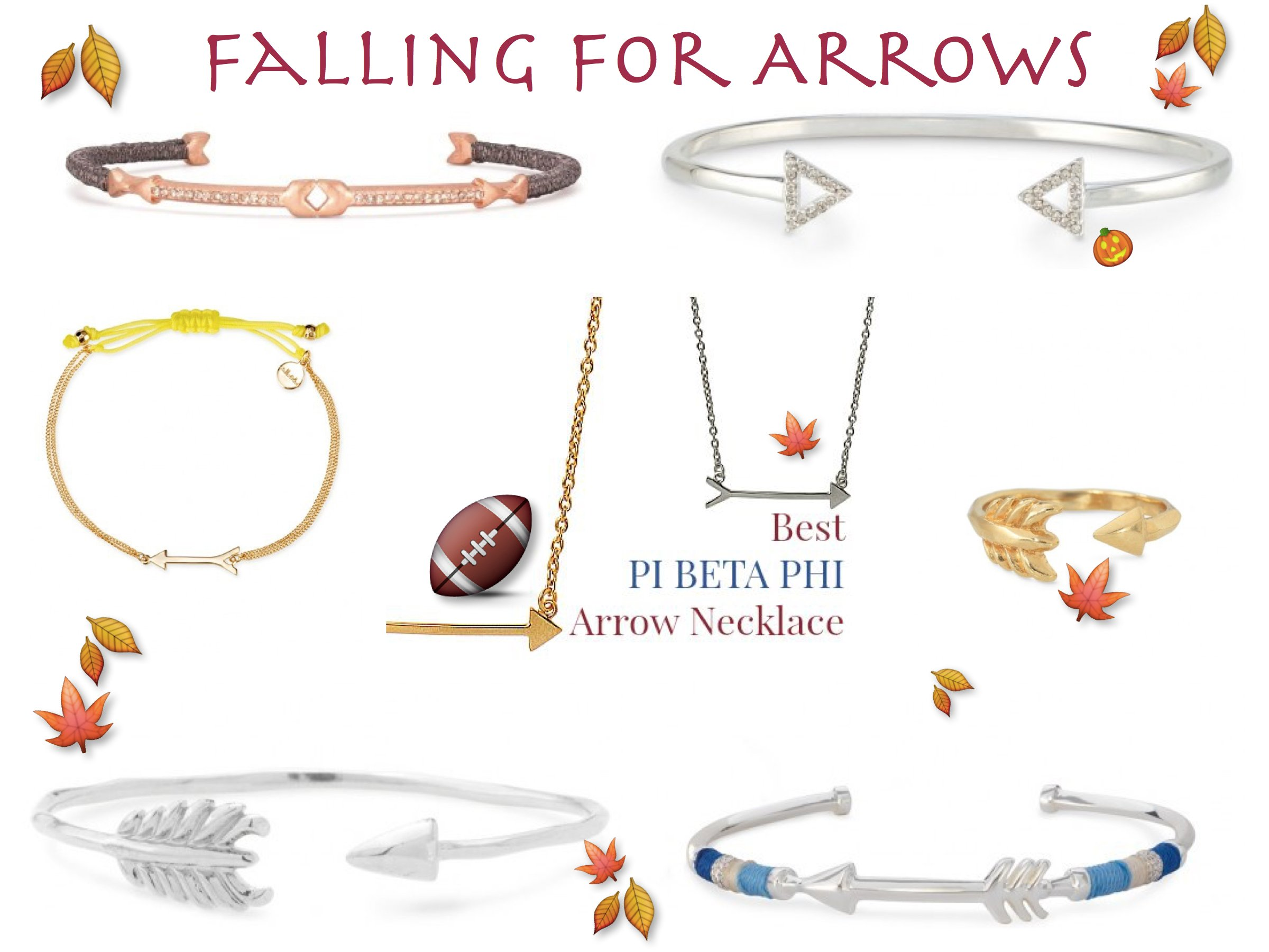 Falling For Arrows Best Pi Beta Phi Arrow Jewelry